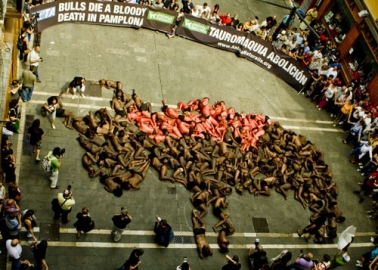 Meet the Activists Who Are Taking a Stand Against Bullfighting in Pamplona