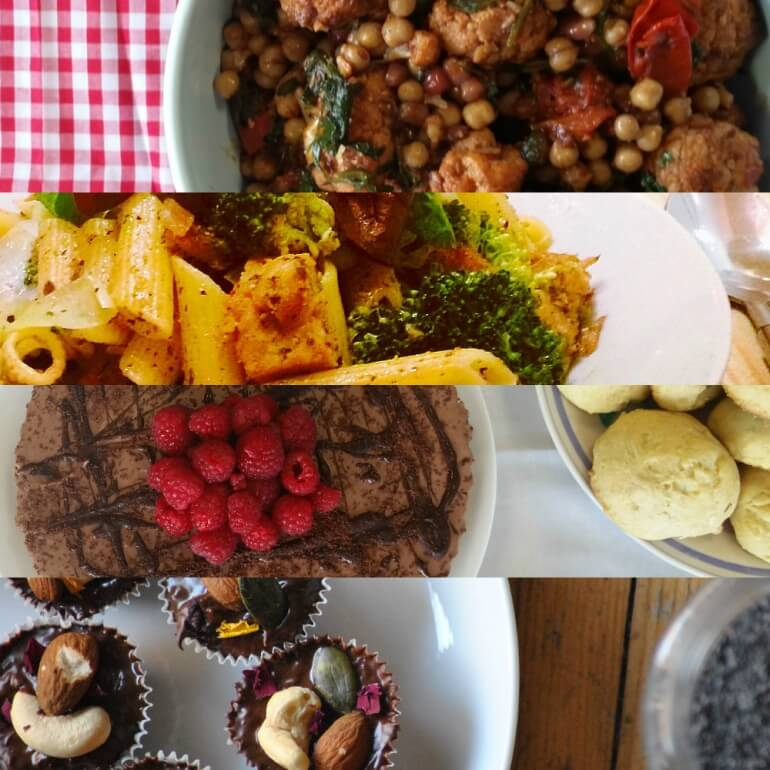 Vegan Food Collage square