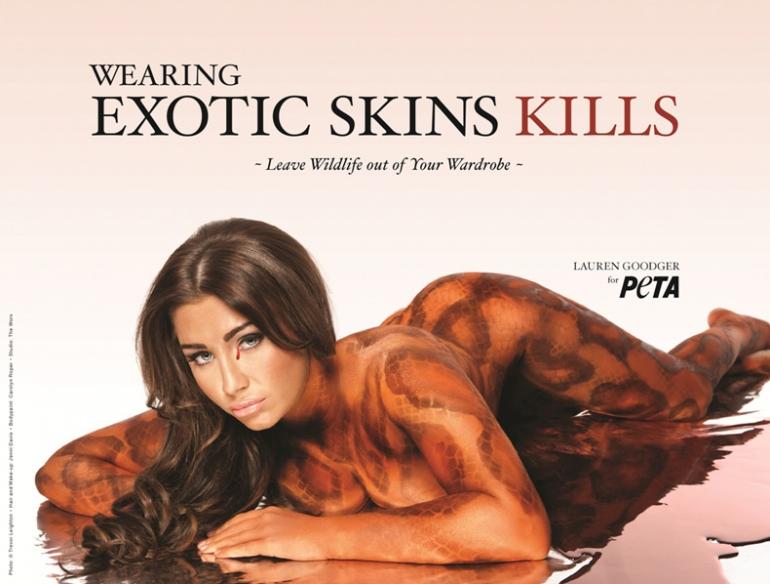 Lauren Goodger: Wearing Exotic Skins Kills