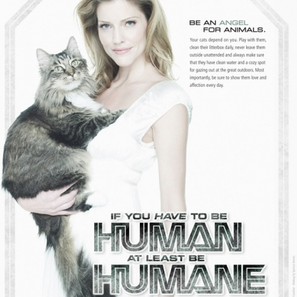 Tricia Helfer: If You Have to Be Human, at Least Be Humane