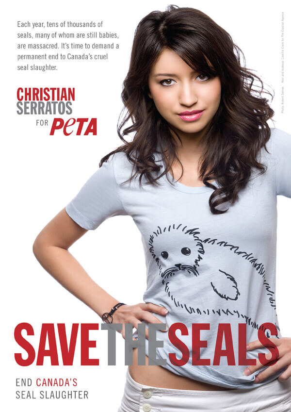 Christian Serratos: Save the Seals