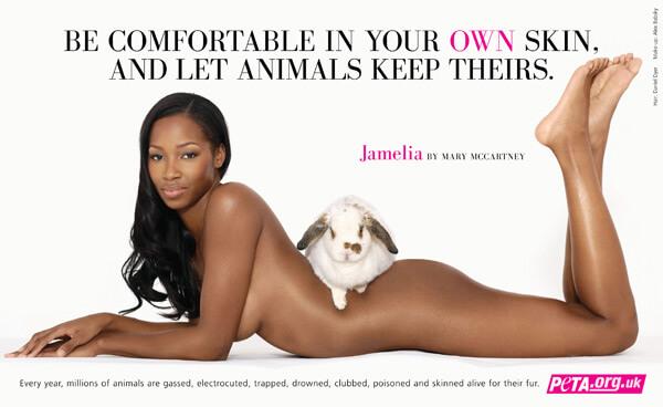 Jamelia Anti-Fur Advert