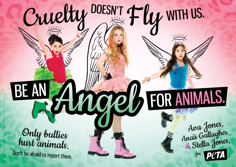 Ava Jones, Anais Gallagher and Stella Jones: Be an Angel for Animals