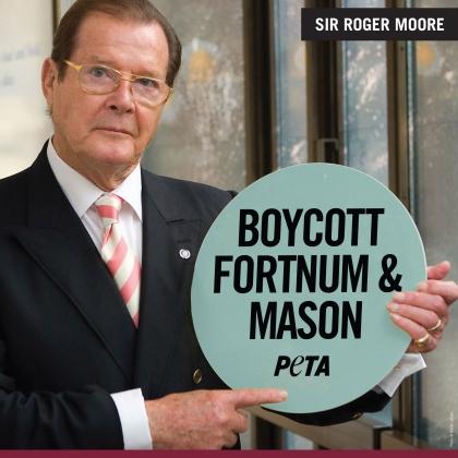 Roger Moore: Boycott Fortnum & Mason