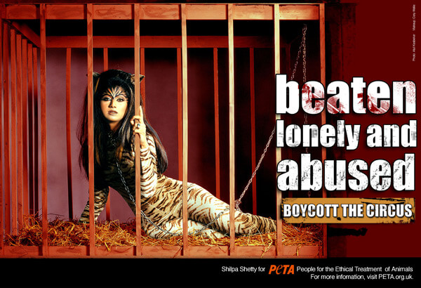 Shilpa Shetty Anti-Circus Advert