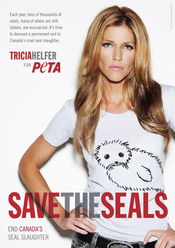 Tricia Helfer: Save the Seals