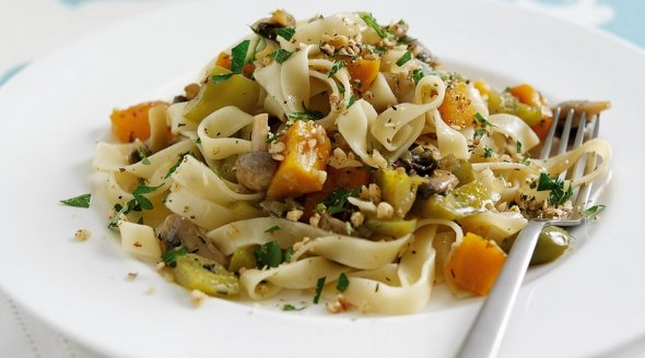 Walnut Dusted Fettuccine