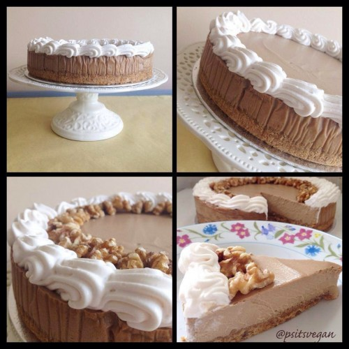 Coffee-and-walnut cheese-less cake from Jennifer at PS … It's Vegan