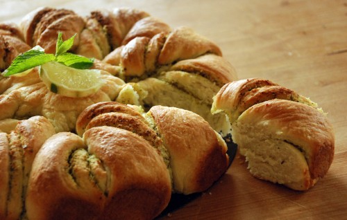Juliane's coconut, mint and lime bread from Veggiephile