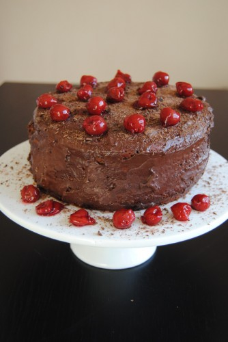 Malwina's chocolate-and-cherry cake from The Stories at the Vegetarian Table
