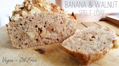 Banana-and-walnut spelt loaf from Lisa at Thirty-Something Vegan