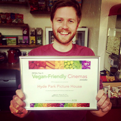 ANDY WITH PETA CERTIFICATE