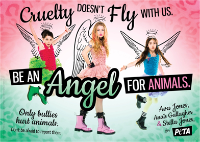 Rockers' daughters team up with PETA to speak out against cruelty