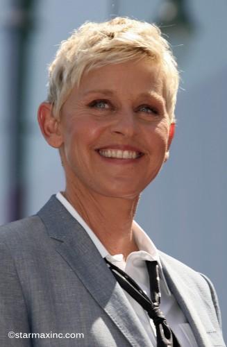 "Ellen DeGeneres receives her star on ""The Hollywood Walk of Fame"""