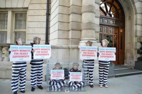 PETA Demo in Whitehall:
