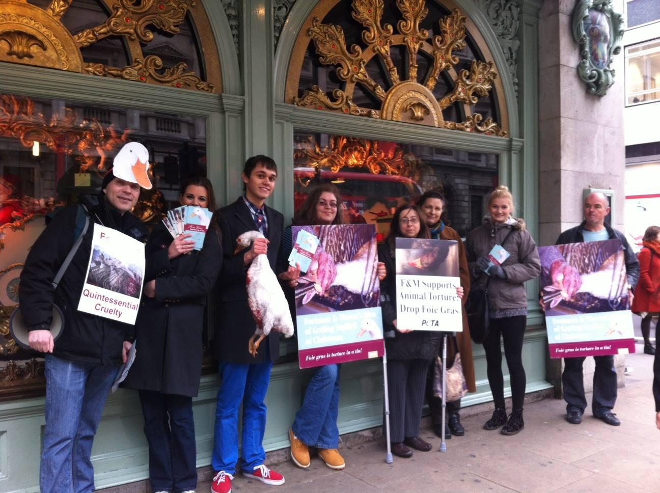 PETA demo against foie gras