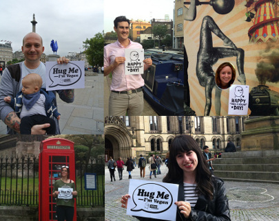 PETA Hug A Vegan Day UK
