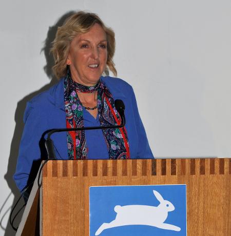 Ingrid at podium
