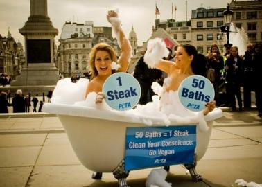 50 Baths = 1 Steak