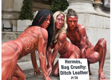 'Skinned' People Descend On Hermès Leather Exhibition