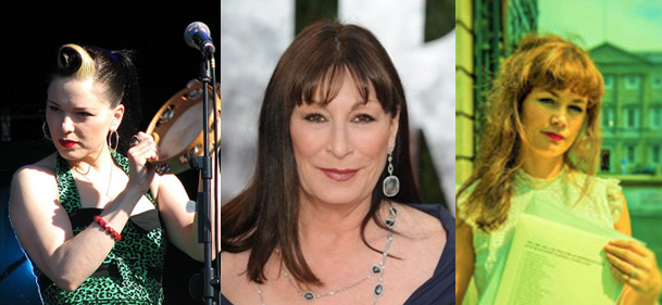 Imelda May, Anjelica Huston and Rachel Pilkington