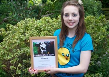 Teen Wins PETA Award for Kindness to Animals