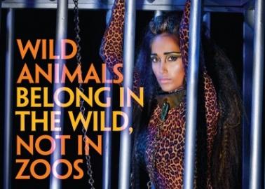 British Bollywood Star Jiah Khan Goes Wild in New PETA Ad