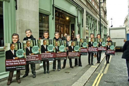An army of Sir Roger Moores descend on Fortnum & Mason
