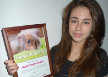 Miss Green Teen Celebrates 13th Birthday With Compassionate Kid Award