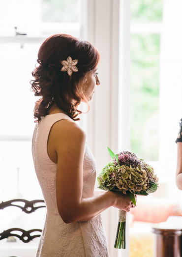 Elisa's silk-free wedding dress