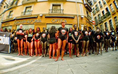 Pamplona Anti Bullfighting Demonstration 2011