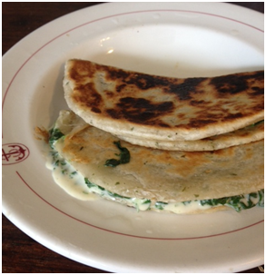 'Cheese' and Spinach Paratha