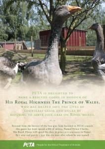 Prince Charles PETA Goose