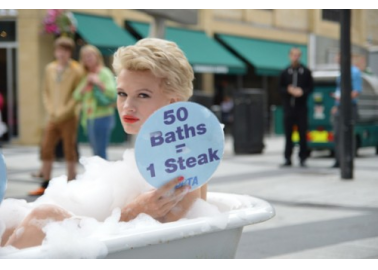 Clean Up Your Act for World Water Week, Say Bathing Vegan Volunteers