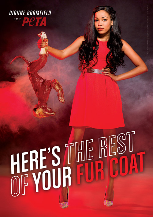 Soul singer poses for anti-fur message to help animals
