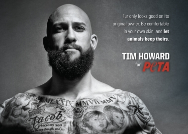 Everton Goalkeeper Tim Howard Defends Animals Wanted for Fur