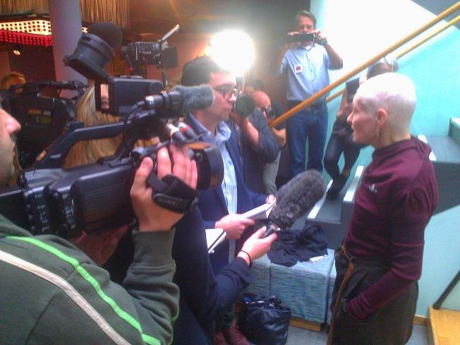 Dame Vivienne Westwood at PETA video launch