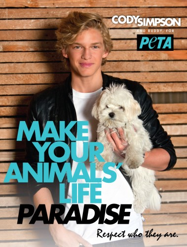 Cody Simpson for PETA