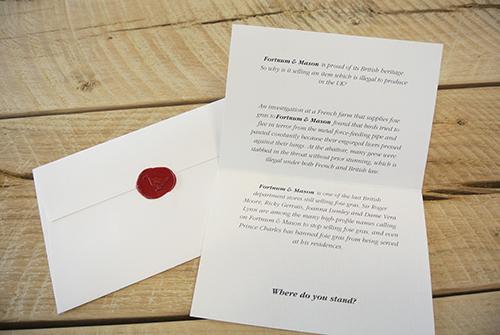 the letter; smaller