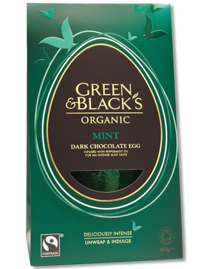 Green Blacks Mint Easter Egg