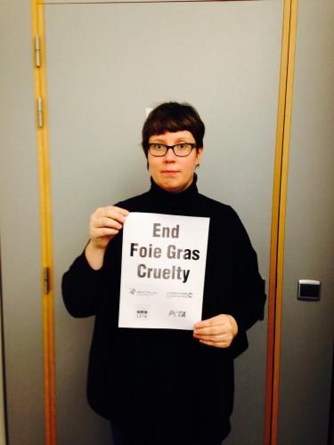 Finnish MEP Merja KyllÖnen Opposes Foie Gras