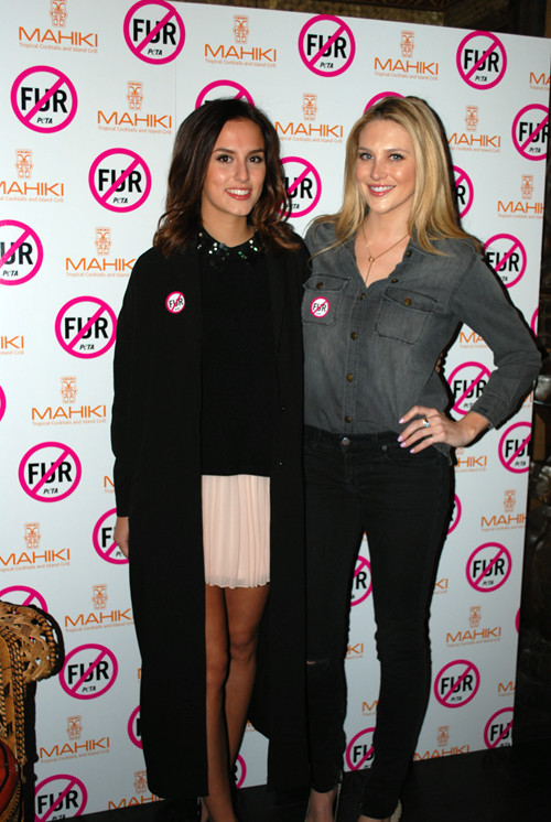 PETA Mahiki Fur Free Party - Stephanie Pratt & Lucy Watson