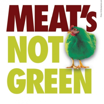 Meat's Not Green Leaflet Page 1