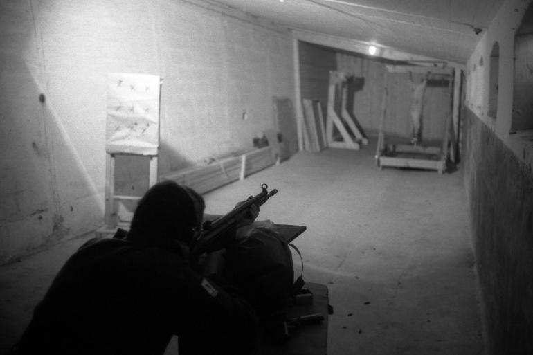 Denmark trauma training shooting live pig