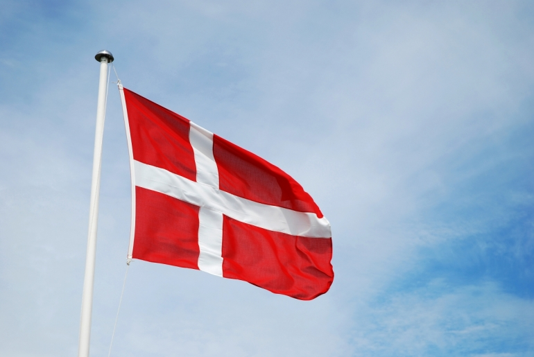 Stock Danish flag