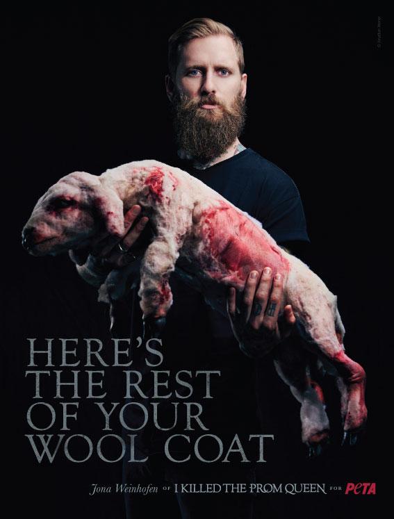 Jona Weinhofen PETA Ad