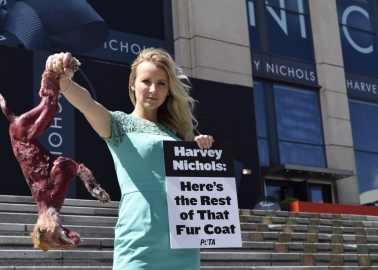 Carley Stenson Returns Fur Coat to Harvey Nichols' Birmingham and Manchester Stores
