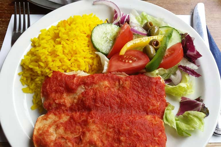 Vegan Enchilada from Coriander Bournemouth