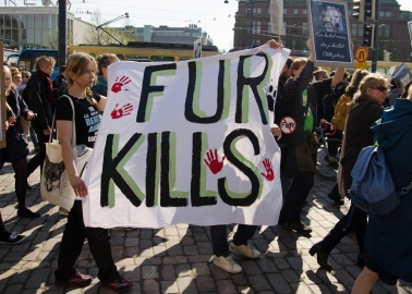 Photos of the Day: Hundreds March Against Fur in Finland