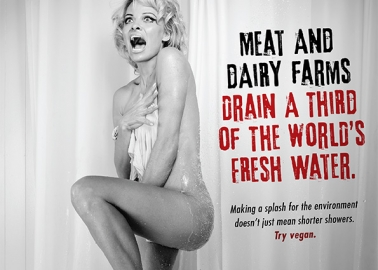 Pamela Anderson's Shower Scene Makes a Splash for Eco-Friendly Eating